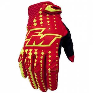 Fm racing Guanti moto cross enduro fm racing power x25 rosso giallo