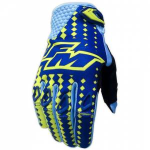 Fm racing Guanti moto cross enduro fm racing power x25 blu giallo
