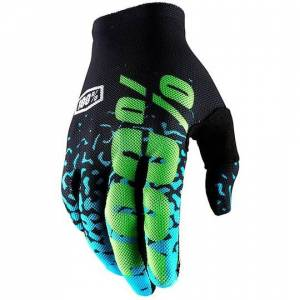 100% Guanti moto cross enduro  celium 2 flash black cyan