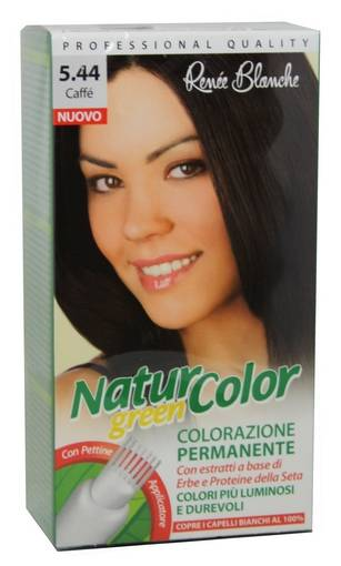 Renée Blanche Tinta Per Capelli Colorazione Permanente Naturale Natur Color Green 544 Caffe'