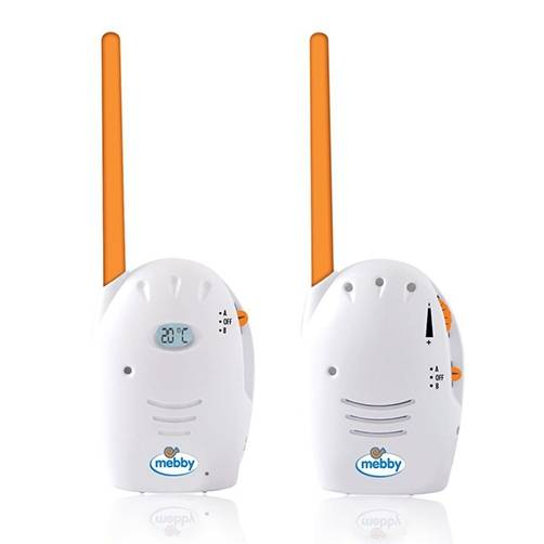 Mebby Voice 3 Baby Monitors Analogici Distanza 150 m 2 Pezzi