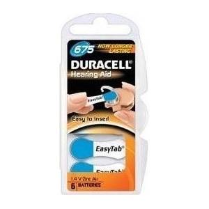 Duracell Hearing Aid 1.4 V Zinc Air 675 6 Batterie