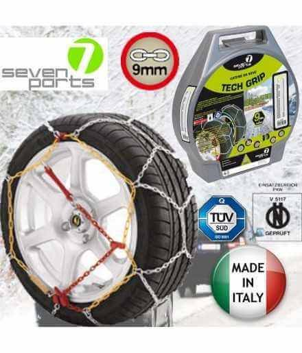 Seven Parts 7 Catene da Neve Seven Parts 7 - 9MM Omologate Onorm - Misura  Pollici 14  - 15  - 16 - 17 - 18 - 19  Made in Italy - MIS. Pn. 100