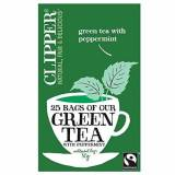 Clipper   Green Tea With Mint   6 x 25 Bags