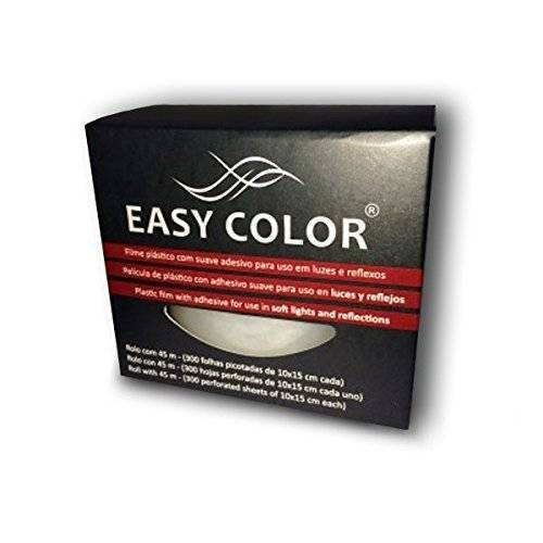 ProStylingTools ® Easy Color Transparent Film with Adhesive for Hair Coloring/Bleaching/Highlights/Balayage by