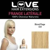 Love Hair Extensions Amore Hair Extensions IPL / FRK1 / QFC / ICM / 60 thermofibre (TM) Clip-In con frange laterali sfalsate Colore 60 Pure Blonde