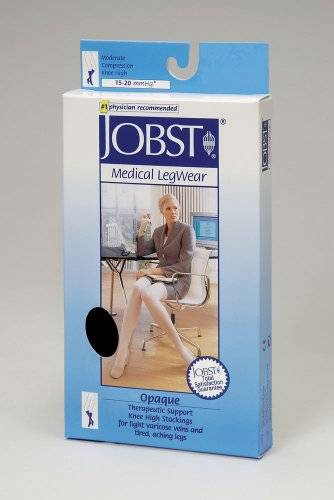 Jobst Compression Stockings Opaque 15-20 Knee High Closed Toe Nat Xl by  Medical