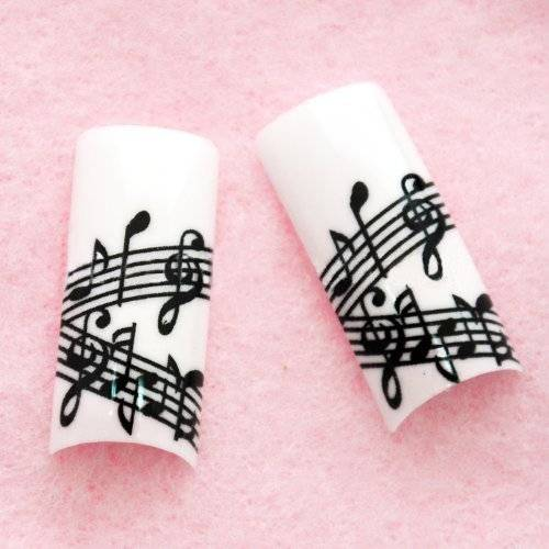 Beauties Factory Airbrushed French Nail Tips (70pcs w/ tip box & glue) MUSIC CODE: #E397Nails by