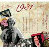 The CD Card Company 1931 The Classic Years 20 Track CD Greetings Card by The CD Card Company