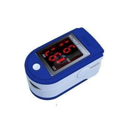 Contec Fingertip Pulse Oximeter and Oxygen Meter CMS50DLP with Soft Case (In black, blue, pink , white or yellow)