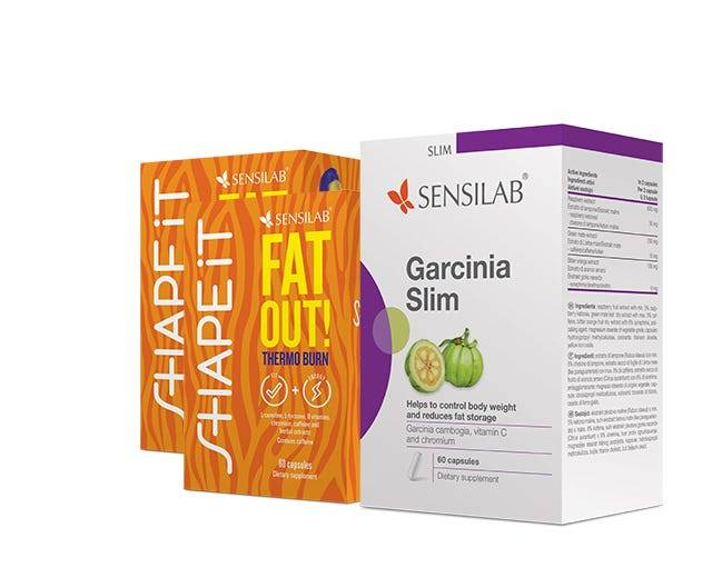 Sensilab Grasso STOP: Fat Out! + Garcinia Slim