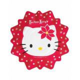 8 piatti Hello Kitty Natale 27 cm