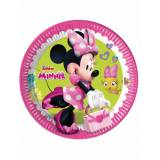 8 piatti di cartone Minnie Happy 23 cm