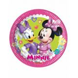 8 piattini di cartone Minnie Happy 19 cm