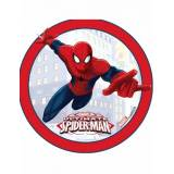 Disco di ostia Spiderman bordo rosso
