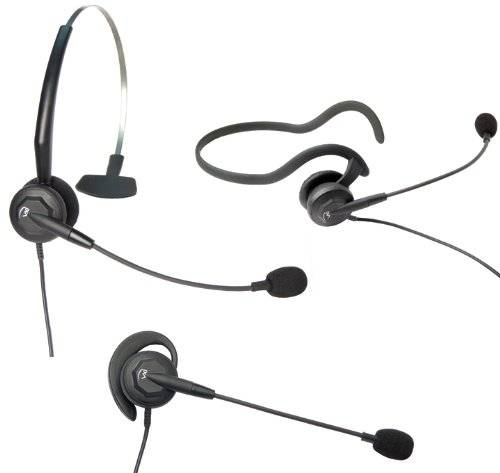 VXi Tria G Monaural Ear-hook,Head-band,Neck-band Black headset - headsets (GN Netcom, Wired, Call center/Office, Supraaural, Open, 200 - 5000 Hz)