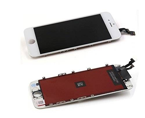 SAVFY Bianco sostituzione schermo iPhone 6, SAVFY Touch Screen LCD e Touch Screen Digitizer di ricambio per iPhone 6 4.7