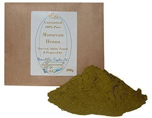 Natural Spa Supplies Ltd 100% Puro Marocco Henné Polvere, 200g