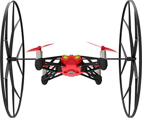 Parrot Minidrones Rolling Spider Drone, Rosso/Nero
