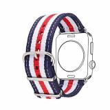 Bandmax 38MM Navy Design Nylon Fabrics Watchband for Apple Watch Fashion Stripes High Quality Replacement Wrist Band for iWatch Sport/Edition Series 2/1 All Versions (38MM)