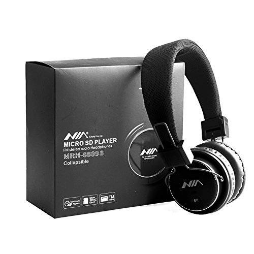 G4GADGET® Nice Sturdy Micro SD TF Card Headset Headphone USB Audio MP3 Music Player FM Radio (Black) can also be use with Aux cable for Apple iPad4 iPhone 5,Ipod All Mp3 Mp4 Players Sony Creative Samsung, All Laptop Pc And All Devices With A Standard 3.5Mm Jack Plug