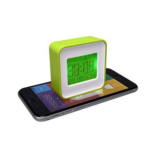 Thumbs Up Smart Clock Sveglia Sincronizzata con Smartphone, Bianco/Verde