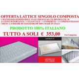 Ergorelax Offerta Materasso Lattice Singolo ( 1 Materasso In Lattice 80x190 Cm + 1 Rete 80