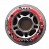 Roces Set rotelle 70 mm/82A - Silver/Red/Black