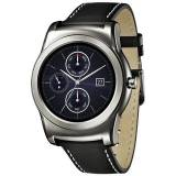 LG W150 Watch Urbane Silver Display P-Oled 1.3'' Cassa in acciaio e cinturino in pelle, cardiofrequenzimetro - Android Wear