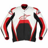 ALPINESTARS TECH-1R LEATHER JACKET ROSSO