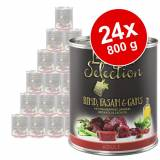 zooplus Selection 24 x 800 g - Adult Manzo, Selvaggina & Anatra