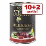zooplus 10 + 2 gratis! 12 x 400 g zooplus Selection - Adult Sensitive Pollo & Riso