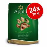 Applaws Set Risparmio! Applaws Buste Naturale 24 x 70 g - Filetto di Tonno con Gamberi del Pacifico