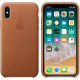 Apple iPhone X Leather Case Saddle Brown iPhone X