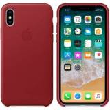 Apple iPhone X Leather Case Red iPhone X