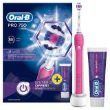 Oral-B Pro 750 Pink + Toothpaste