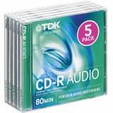 TDK CD-R Audio 5-pack (JewelCase)