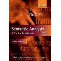 Goddard Cliff Semantic Analysis: A Practical Introduction (0199560285)
