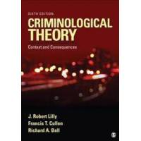 Lilly, J. Robert Criminological Theory (1483311201)