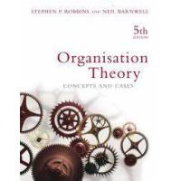 Robbins, Stephen Organisation Theory (0733974716)