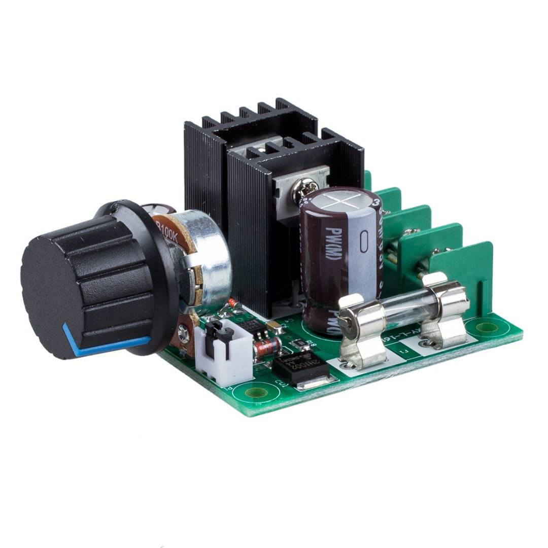 12V-40V DC Speed Controller 10A PWM DC Motor Speed Controller 73X60X27mm Dimmer Voltage Regulator With Knob