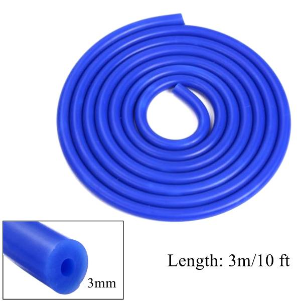Meco 3m Long Blue Silicone Vacuum Hose Turbo Air Intercooler Coupler Pipe 3mm