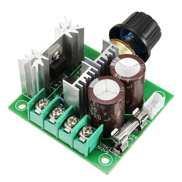 Meco DC 12V-40V 10A 13Khz Motor Speed Controller Pump PWM Stepless Speed Change Speed Control Switch Large Torque 50V 1000uF Large Capacitor IRF3205 Power Tube With Over-Voltage Protection Function