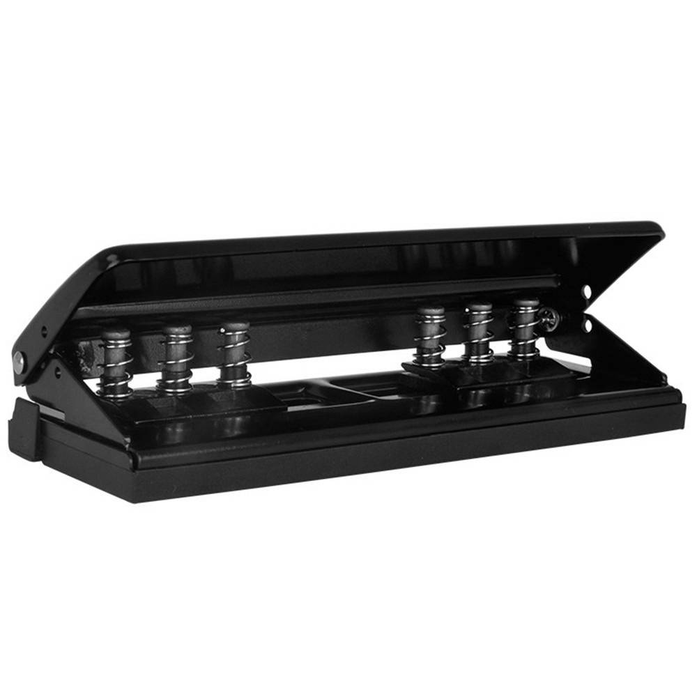 Meco Adjustable 6-Holes Punch Loose-leaf Diaries Organizers Paper Punch Staplers