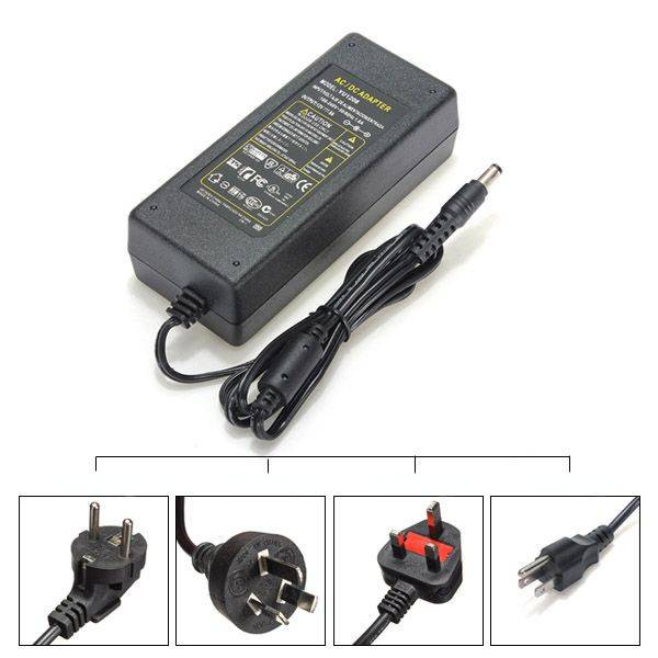 Meco UK/EU/US/AU AC 100-240V To DC 12V 10A Power Supply Charger Adapter For LED Strip
