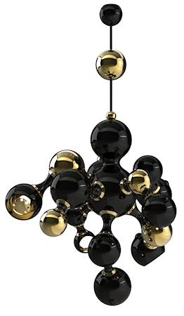 Delightfull Atomic takpendel - Black/gold lacquered