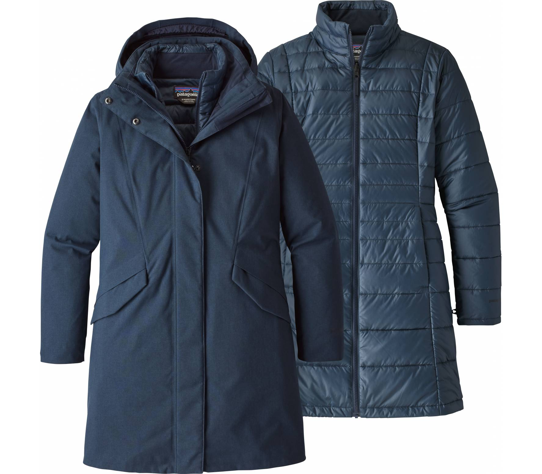 Patagonia Vosque 3-in-1 Dam insulating jacket M blå