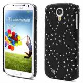 MTP Products Samsung Galaxy S4 I9500, I9505 Bling Diamond Hårt Läder Skal - Svart
