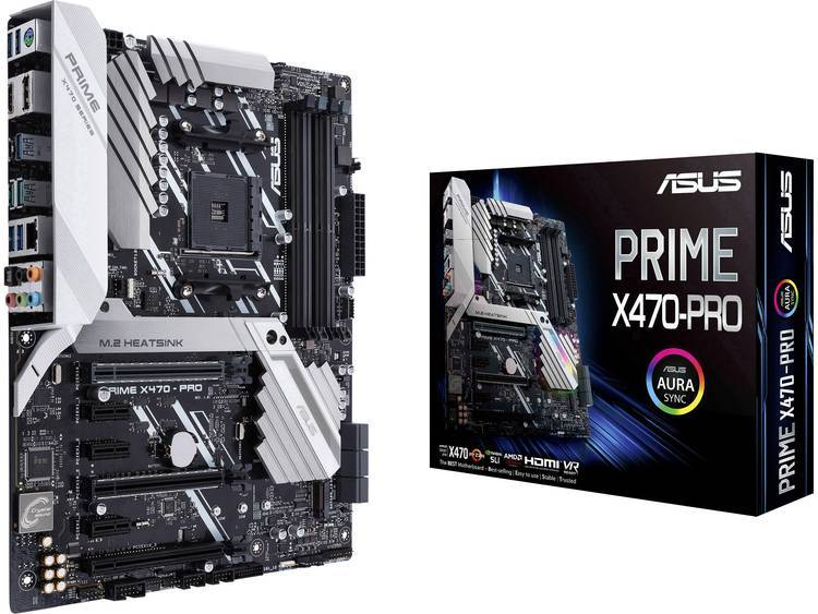 Asus Moderkort Asus Prime X470-Pro AMD AM4 ATX AMD® X470