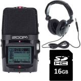 Zoom H2n Headphone + Card Bundle